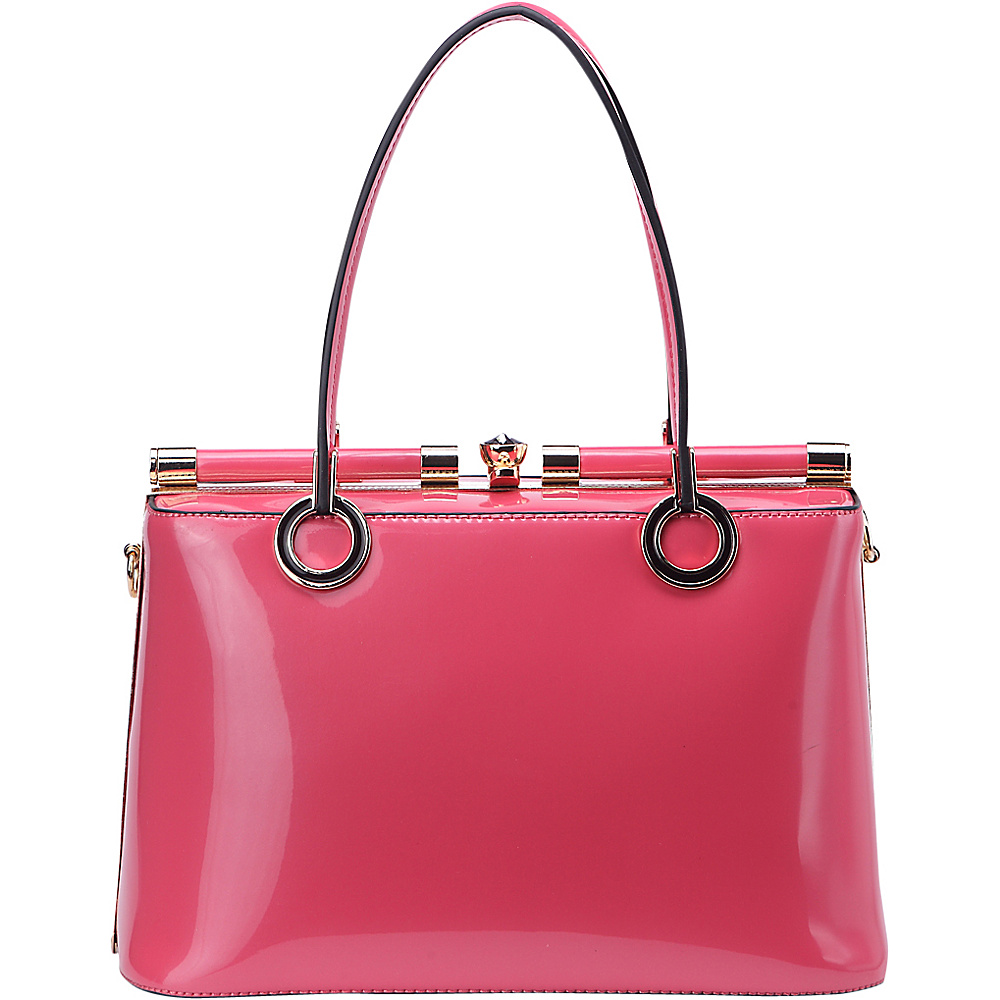 MKF Collection Alice Structured Bag Pink - MKF Collection Manmade Handbags - Handbags, Manmade Handbags