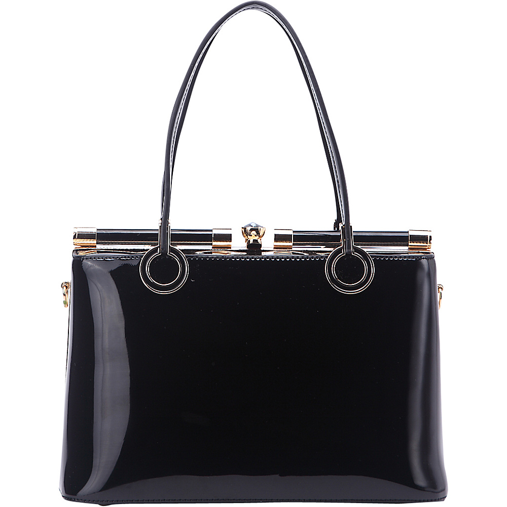 MKF Collection Alice Structured Bag Black - MKF Collection Manmade Handbags - Handbags, Manmade Handbags