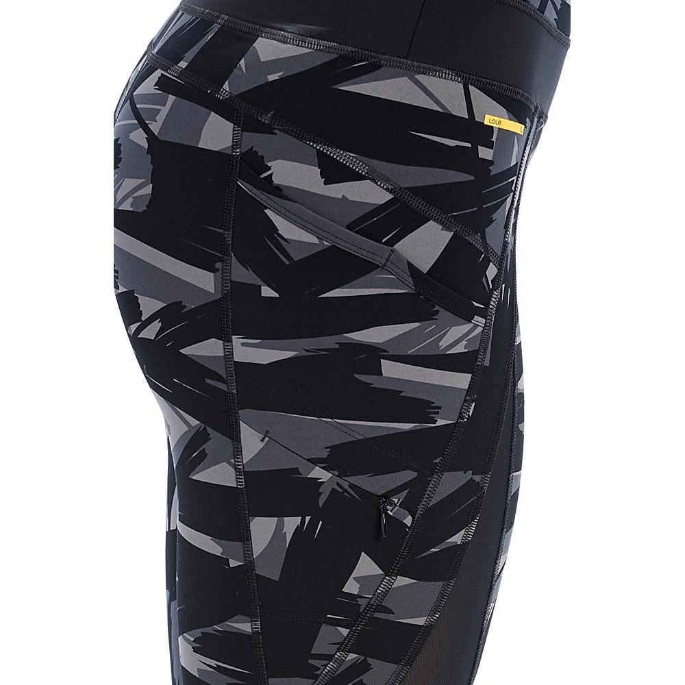 Lole Burst Ankle Leggings L - Black Expression - Lole Womens Apparel - Apparel & Footwear, Women's Apparel