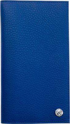 Rapport London Berkeley Leather Travel Wallet Blue - Rapport London Men's Wallets