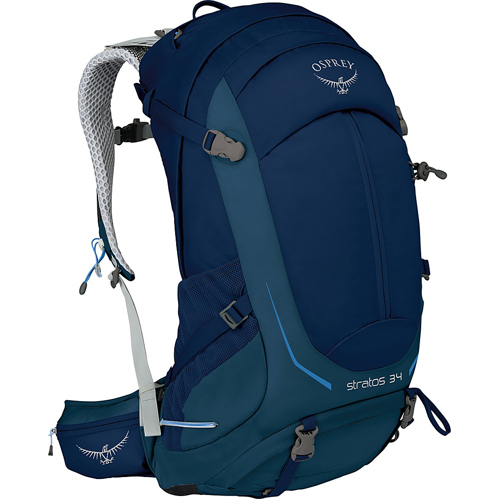 Osprey Stratos 34 Hiking Pack Eclipse Blue – S/M - Osprey Day Hiking Backpacks - Outdoor, Day Hiking Backpacks