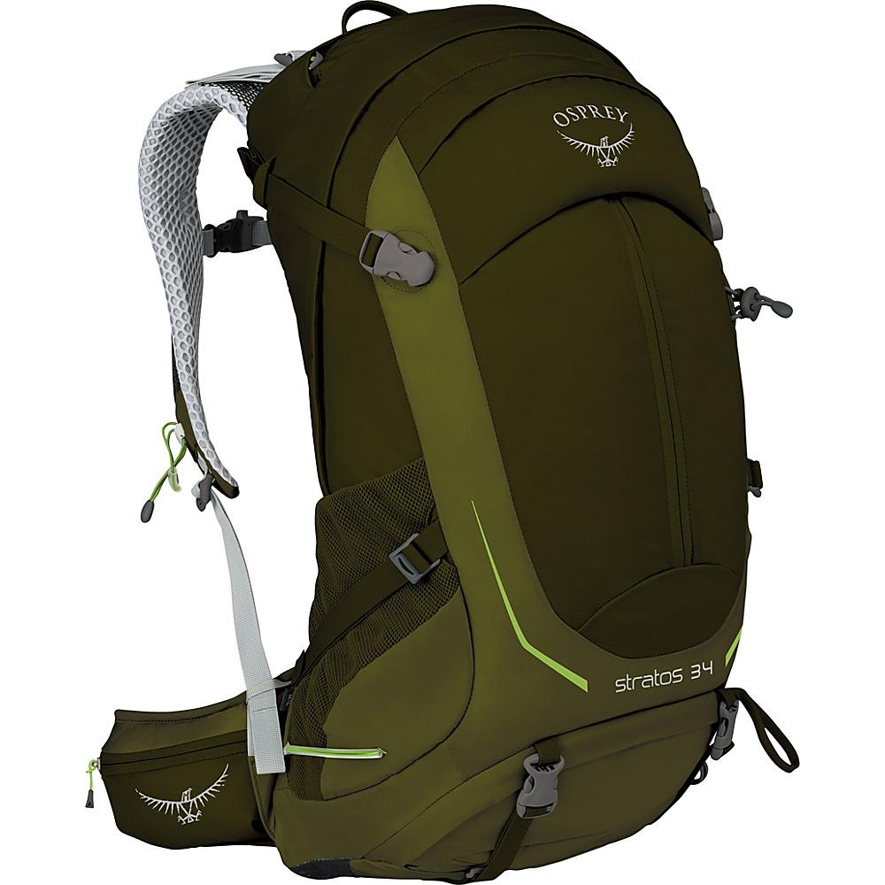 Osprey Stratos 34 Hiking Pack Gator Green – S/M - Osprey Day Hiking Backpacks - Outdoor, Day Hiking Backpacks