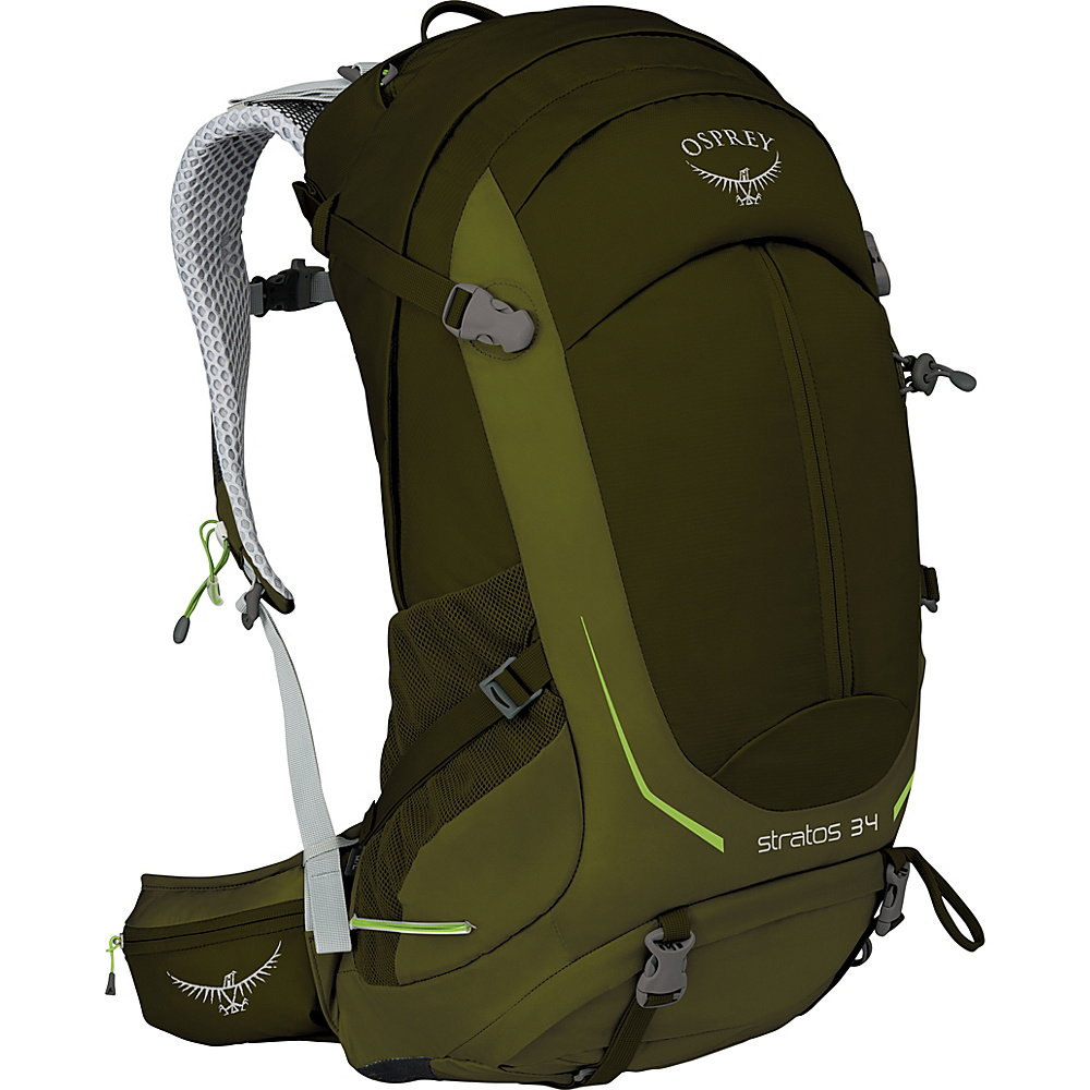 Osprey Stratos 34 Hiking Pack Gator Green – M/L - Osprey Day Hiking Backpacks - Outdoor, Day Hiking Backpacks