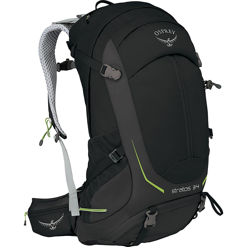 Osprey Stratos 34 Hiking Pack Black - M/L - Osprey Day Hiking Backpacks - Outdoor, Day Hiking Backpacks