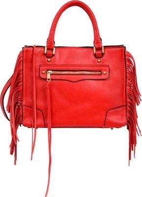 Mellow World Hailey Satchel Red - Mellow World Manmade Handbags