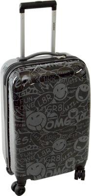Smiley Stealth 26 inch Spinner Black - Smiley Hardside Luggage