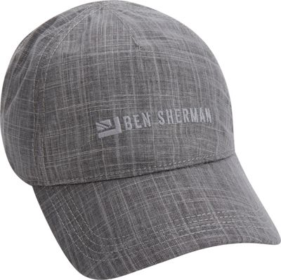 Ben Sherman Textured Linen Baseball One Size - Platinum - Ben Sherman Hats/Gloves/Scarves