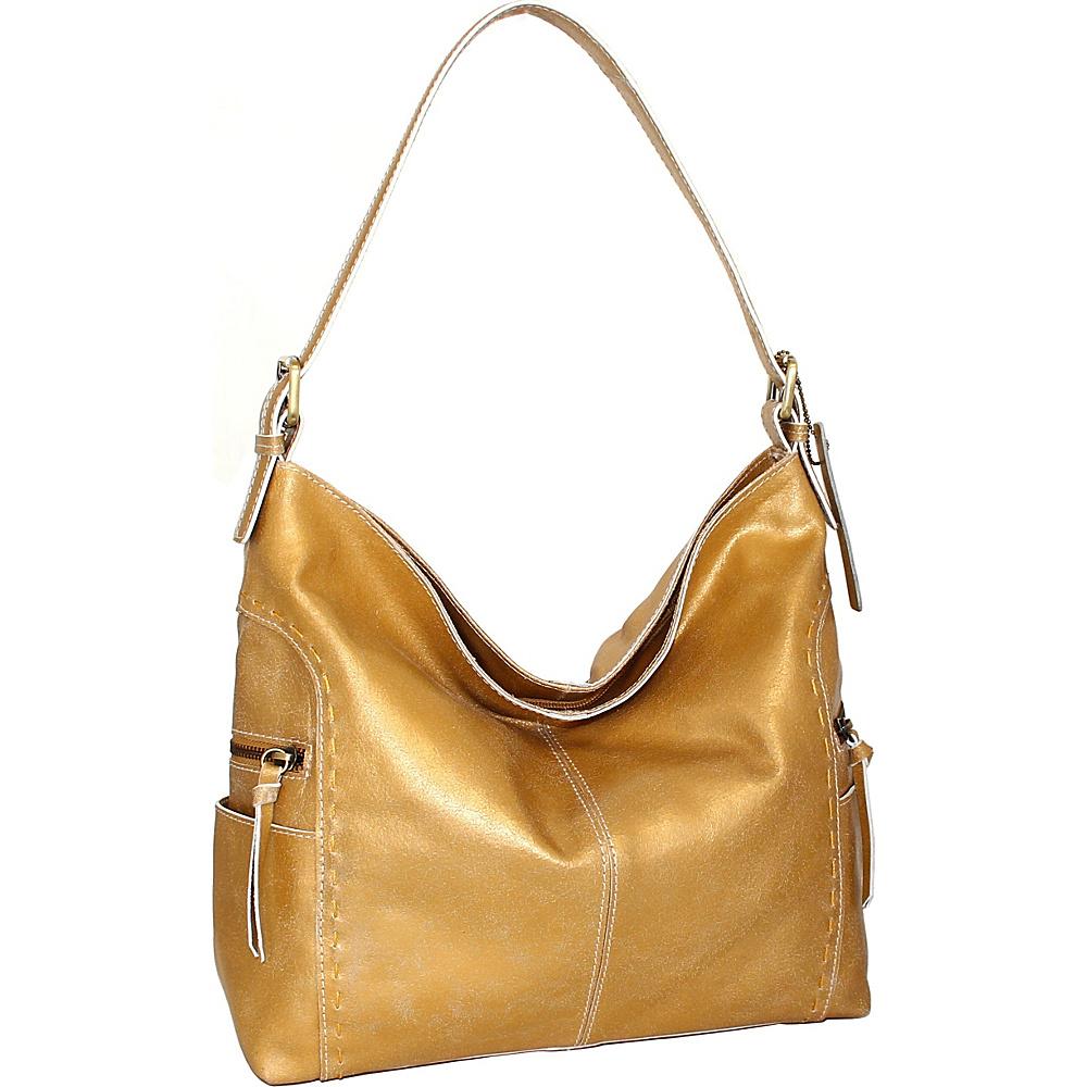 Nino Bossi Beatrice Shoulder Bag Gold - Nino Bossi Leather Handbags - Handbags, Leather Handbags
