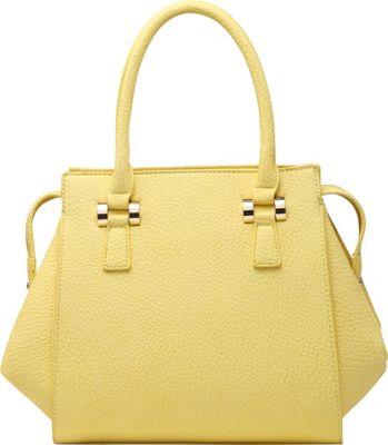 SW Global Cyan Satchel Yellow - SW Global Manmade Handbags