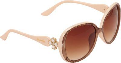 Unionbay Eyewear Oversized Plastic Oval Sunglasses Animal Nude - Unionbay Eyewear Eyewear 10551560