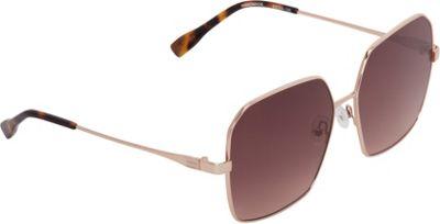 Elie Tahari Sunglasses Geometric Shaped with Flat Lenses Sunglasses Rose Gold - Elie Tahari Sunglasses Eyewear