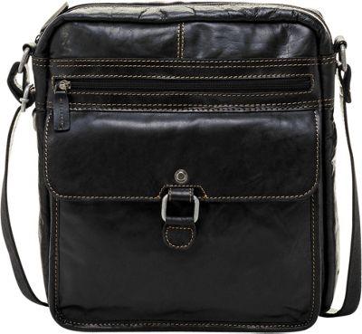 Jack Georges Voyager Large Crossbody Black - Jack Georges Messenger Bags