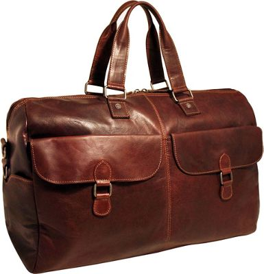 Jack Georges Voyager 22 inch Duffel with Front Pockets Brown - Jack Georges Travel Duffels