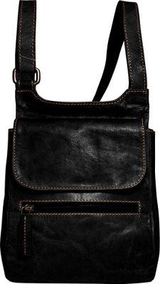 Jack Georges Voyager Slim Crossbody Black - Jack Georges Leather Handbags