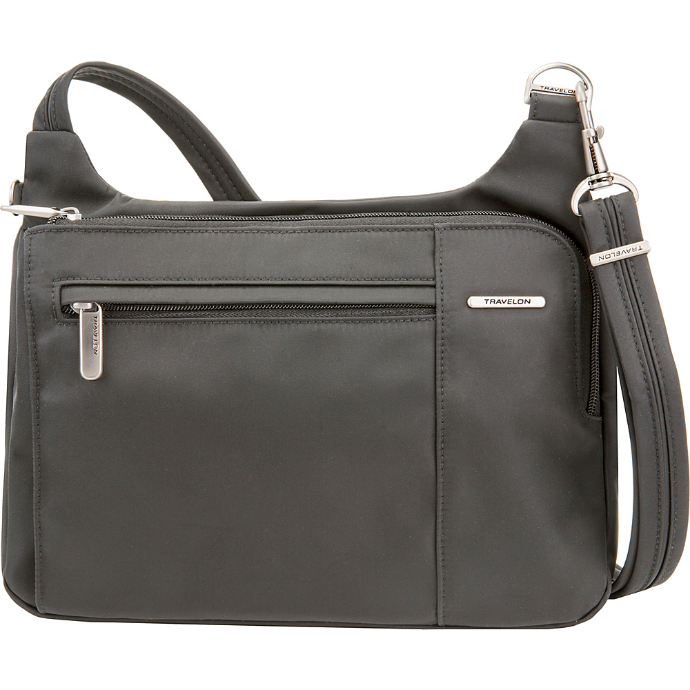 Travelon Anti-Theft Welted Asymmetric East/West Crossbody - Exclusive Gray - Travelon Fabric Handbags - Handbags, Fabric Handbags