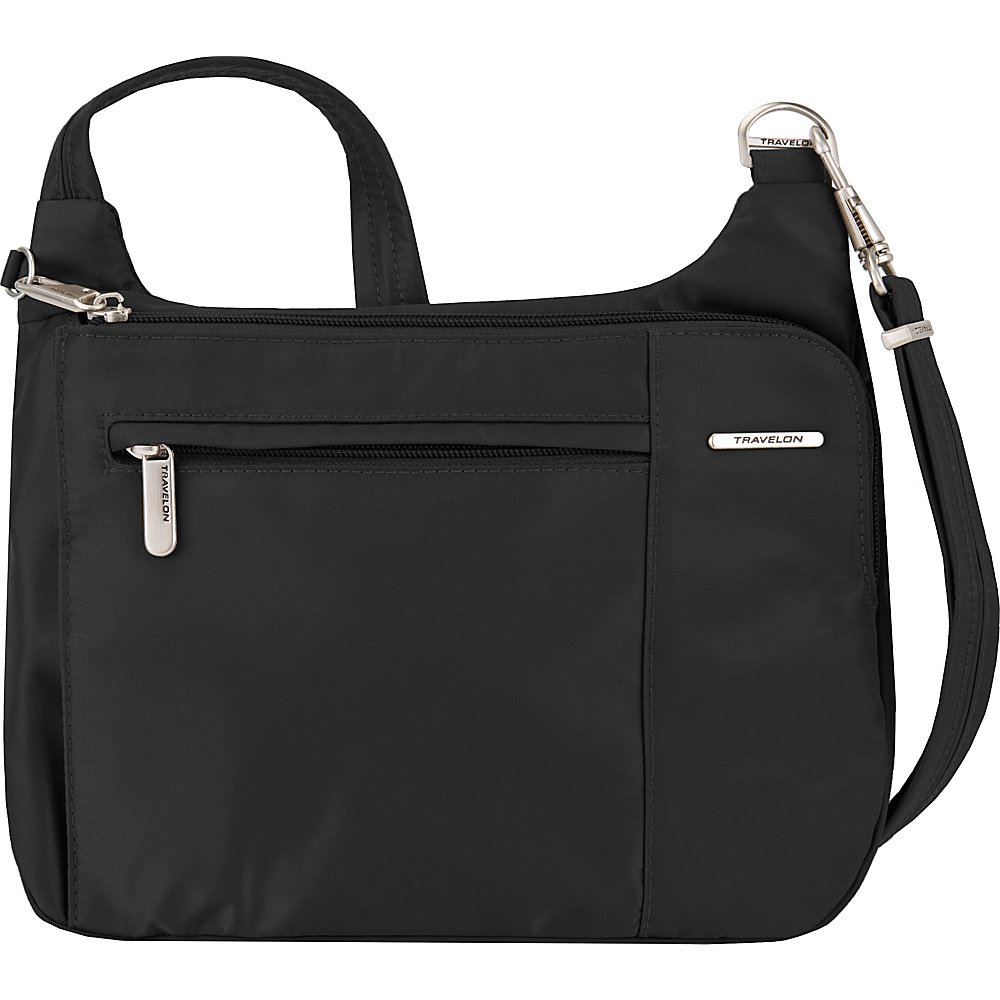 Travelon Anti-Theft Welted Asymmetric East/West Crossbody - Exclusive Black/Berry - Travelon Fabric Handbags - Handbags, Fabric Handbags