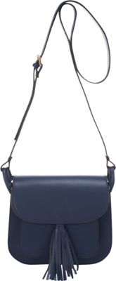 Lisa Minardi Saddle Crossbody Blue - Lisa Minardi Leather Handbags