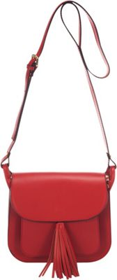 Lisa Minardi Saddle Crossbody Red - Lisa Minardi Leather Handbags