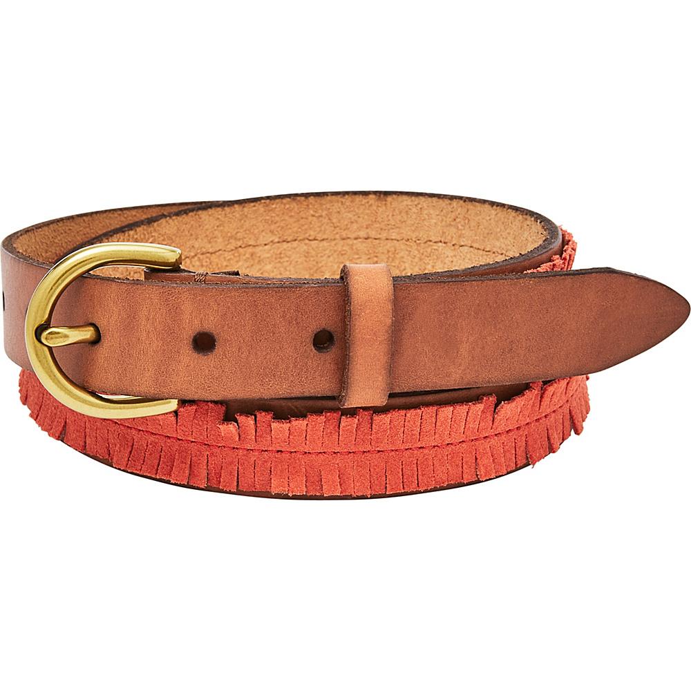 Fossil Fringe Skinny Belt S - Chili Pepper - Fossil Belts - Fashion Accessories, Belts