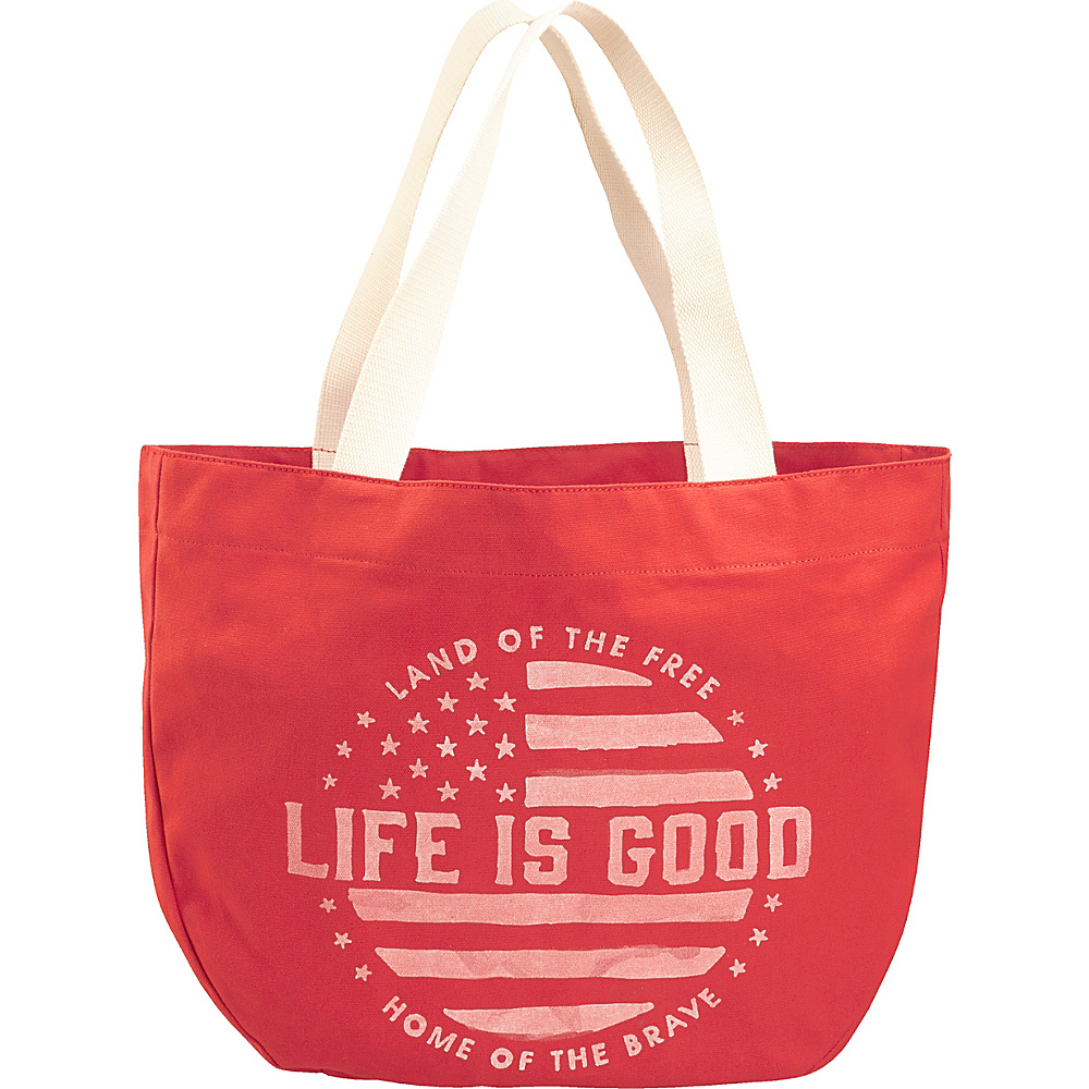Life is good Around Town Tote Americana Red - Life is good All-Purpose Totes - Travel Accessories, All-Purpose Totes