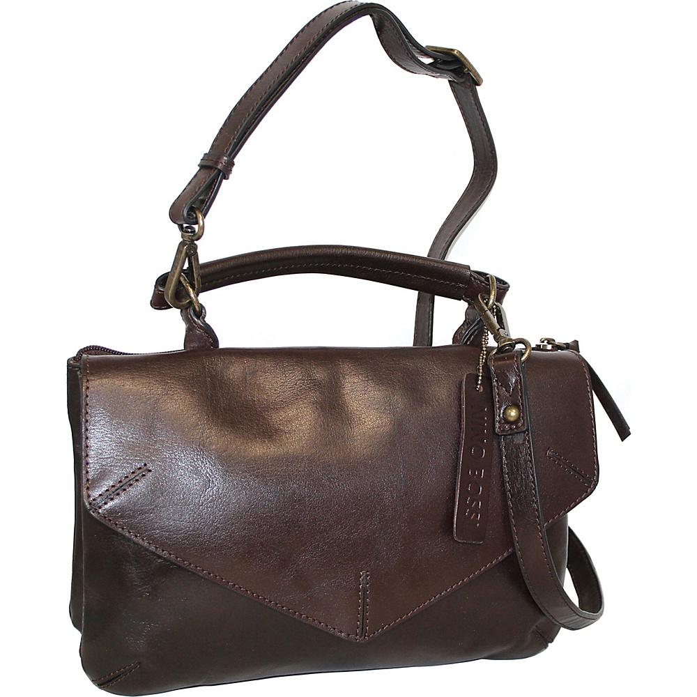Nino Bossi Venus Leather Crossbody Chocolate - Nino Bossi Leather Handbags - Handbags, Leather Handbags