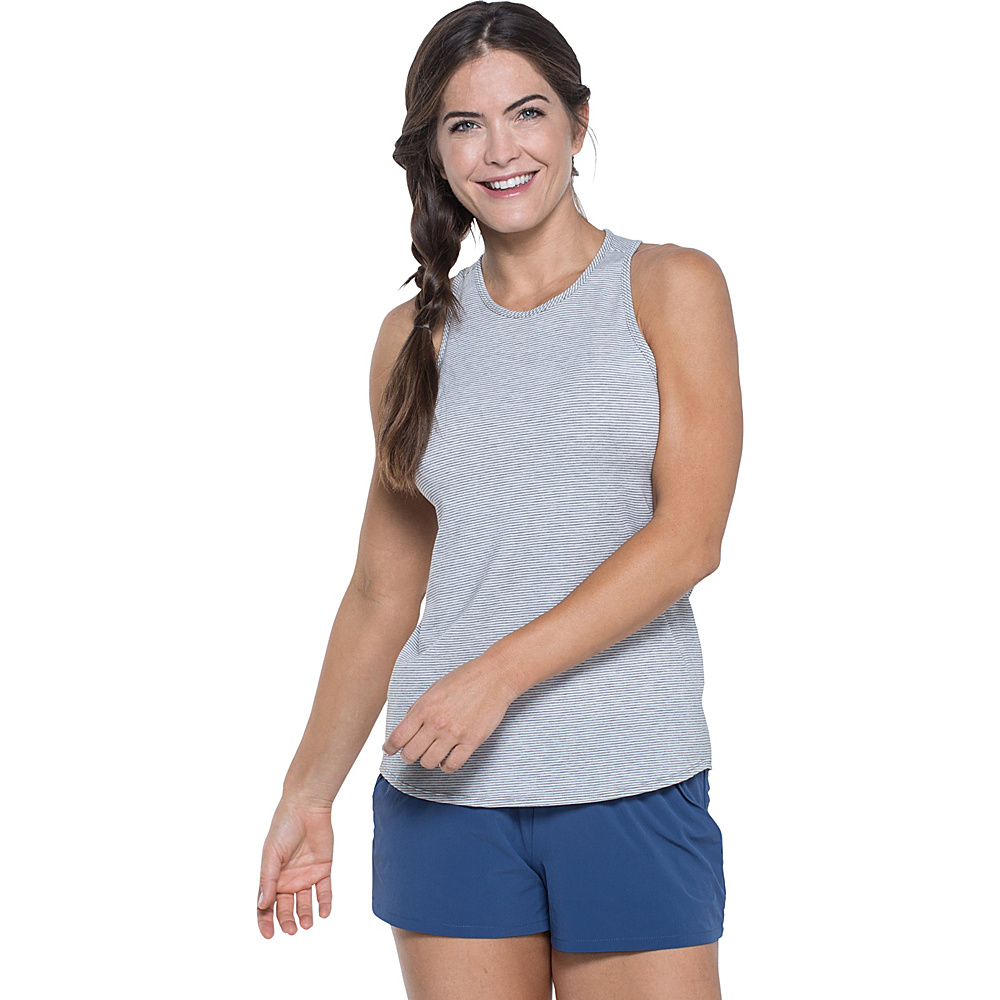 Toad & Co Swifty Vent Tank S - Egret Stripe - Toad & Co Womens Apparel - Apparel & Footwear, Women's Apparel