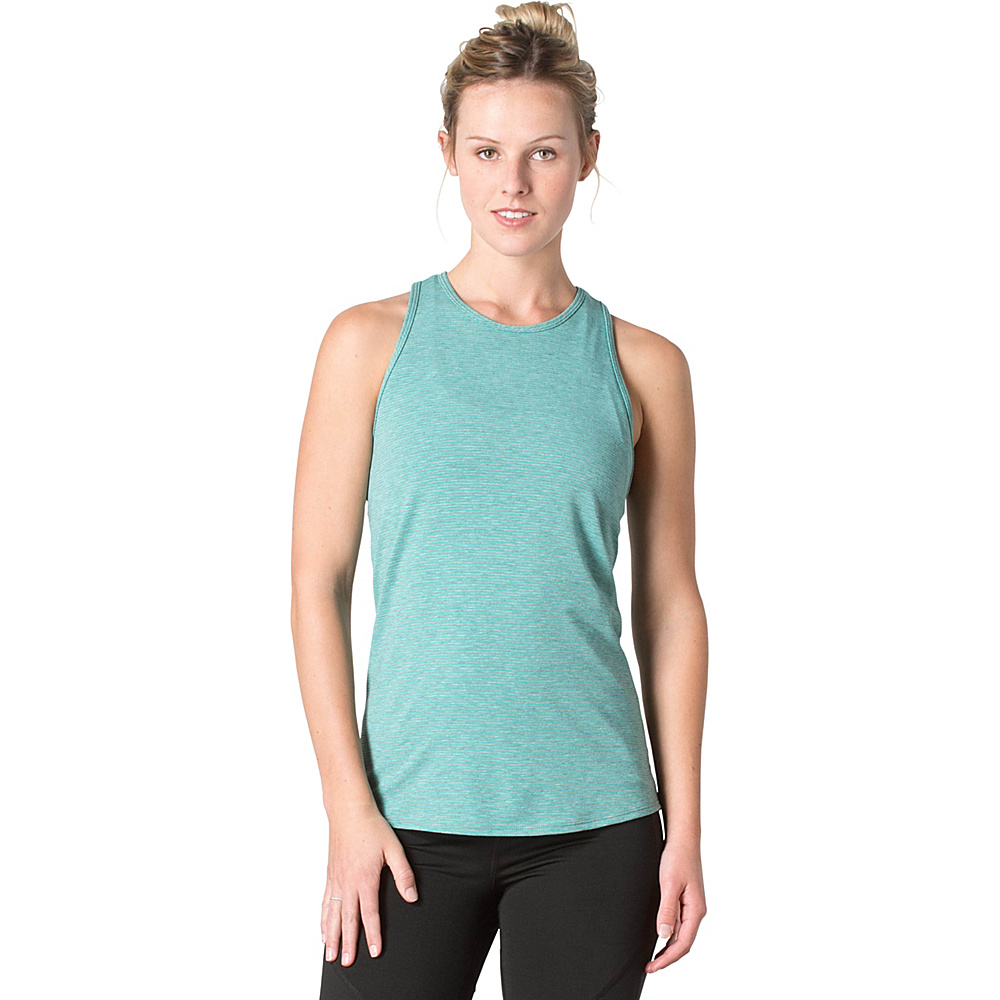 Toad & Co Swifty Vent Tank XS - Turquoise Cove Stripe - Toad & Co Womens Apparel - Apparel & Footwear, Women's Apparel