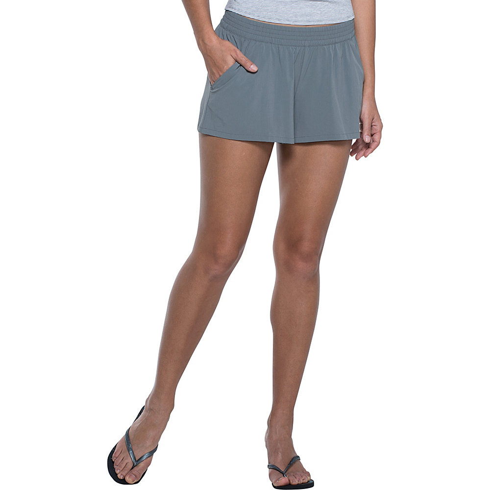 Toad & Co Sunkissed Pull On Short XS - Smoke - Toad & Co Womens Apparel - Apparel & Footwear, Women's Apparel