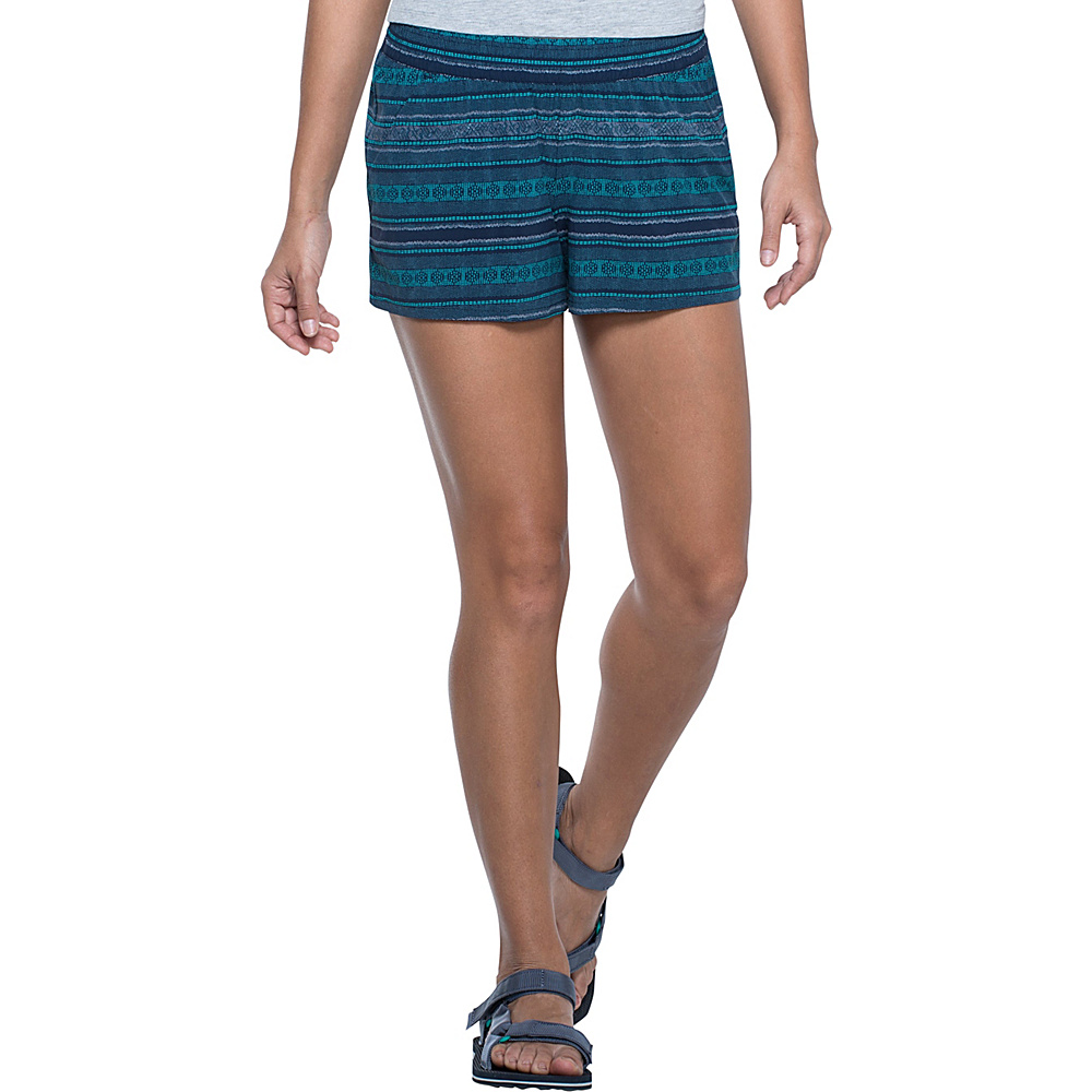 Toad & Co Sunkissed Pull On Short XS - Deep Navy Bird Print - Toad & Co Womens Apparel - Apparel & Footwear, Women's Apparel