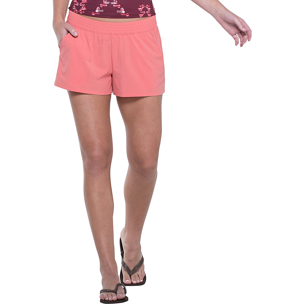 Toad & Co Sunkissed Pull On Short XS - Spiced Coral - Toad & Co Womens Apparel - Apparel & Footwear, Women's Apparel