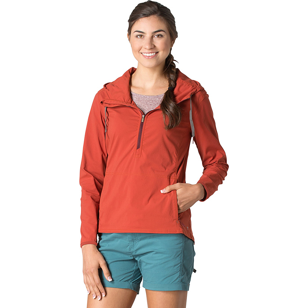 Toad & Co Spindrift Anorak L - Red Clay - Toad & Co Womens Apparel - Apparel & Footwear, Women's Apparel