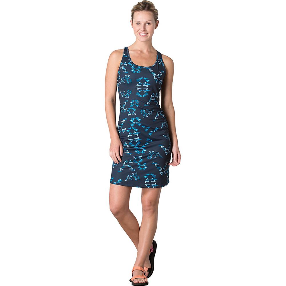 Toad & Co Aquaflex Dress L - Deep Navy Water Print - Toad & Co Womens Apparel - Apparel & Footwear, Women's Apparel