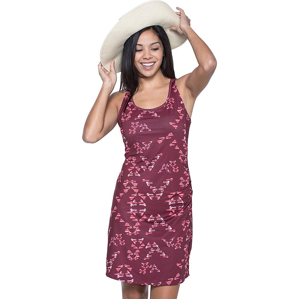 Toad & Co Aquaflex Dress S - Sangria Water Print - Toad & Co Womens Apparel - Apparel & Footwear, Women's Apparel