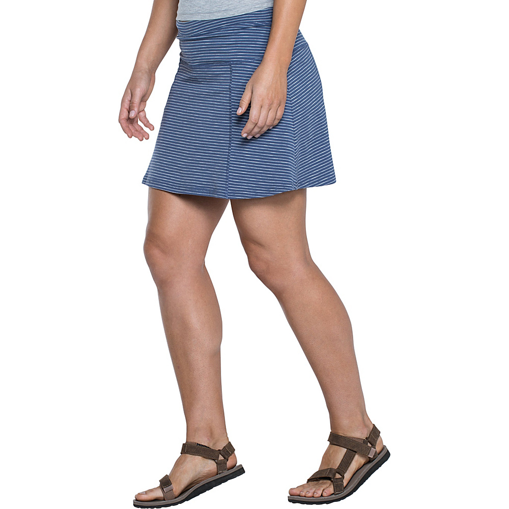 Toad & Co Sereena Samba Skort M - Indigo Stripe - Toad & Co Womens Apparel - Apparel & Footwear, Women's Apparel
