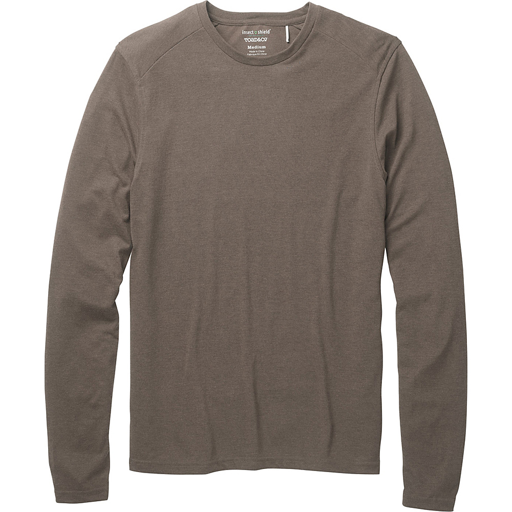 Toad & Co Debug Lightweight Long Sleeve Crew L - Jeep - Toad & Co Mens Apparel - Apparel & Footwear, Men's Apparel