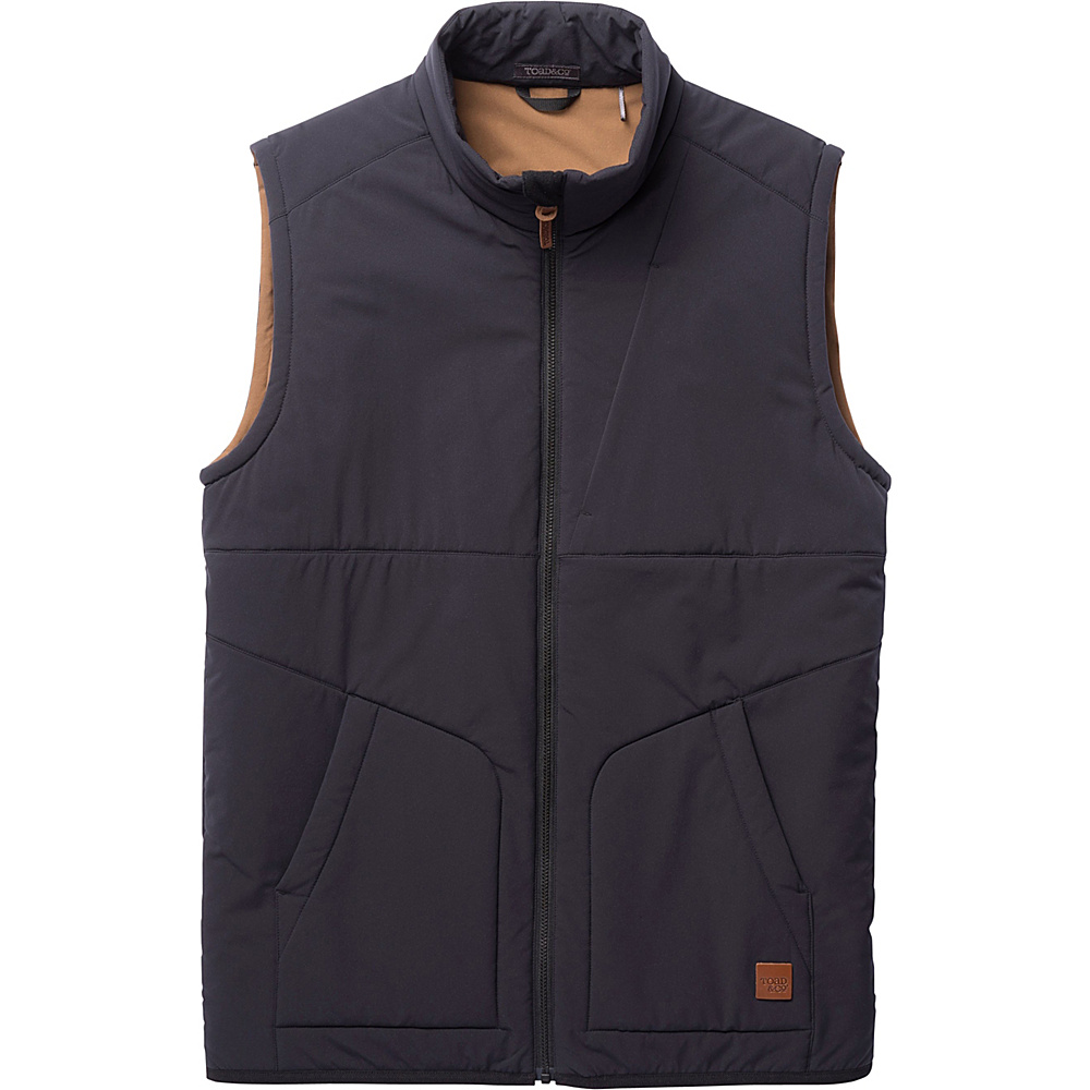 Toad & Co Aerium Stretch Vest S - Black - Toad & Co Mens Apparel - Apparel & Footwear, Men's Apparel