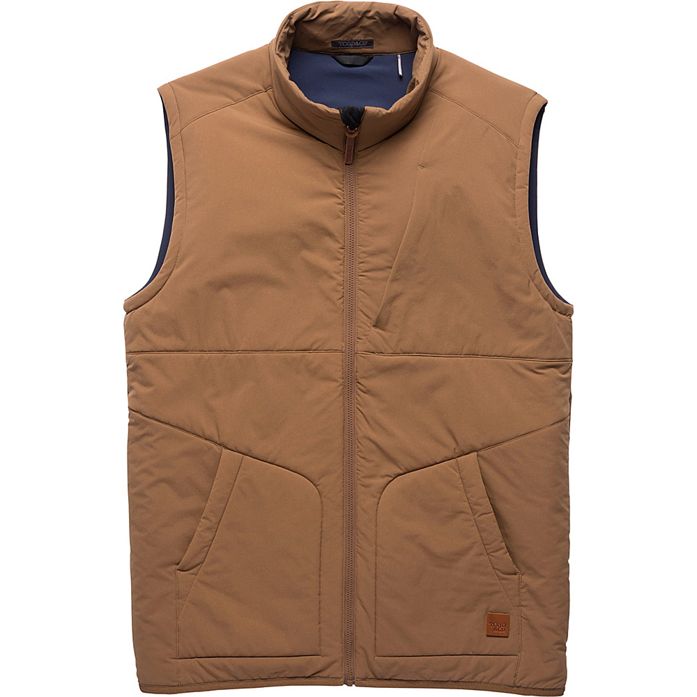 Toad & Co Aerium Stretch Vest L - Seal Brown - Toad & Co Mens Apparel - Apparel & Footwear, Men's Apparel
