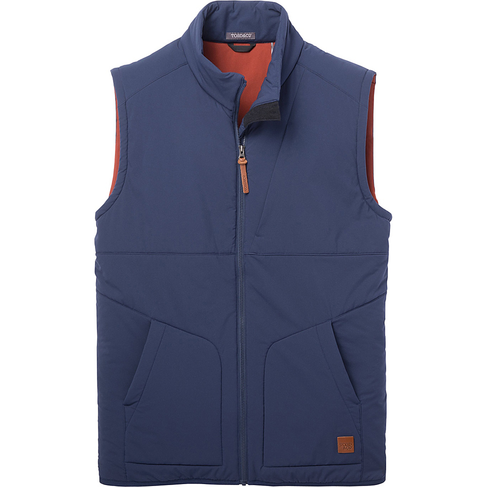 Toad & Co Aerium Stretch Vest XL - Deep Navy - Toad & Co Mens Apparel - Apparel & Footwear, Men's Apparel
