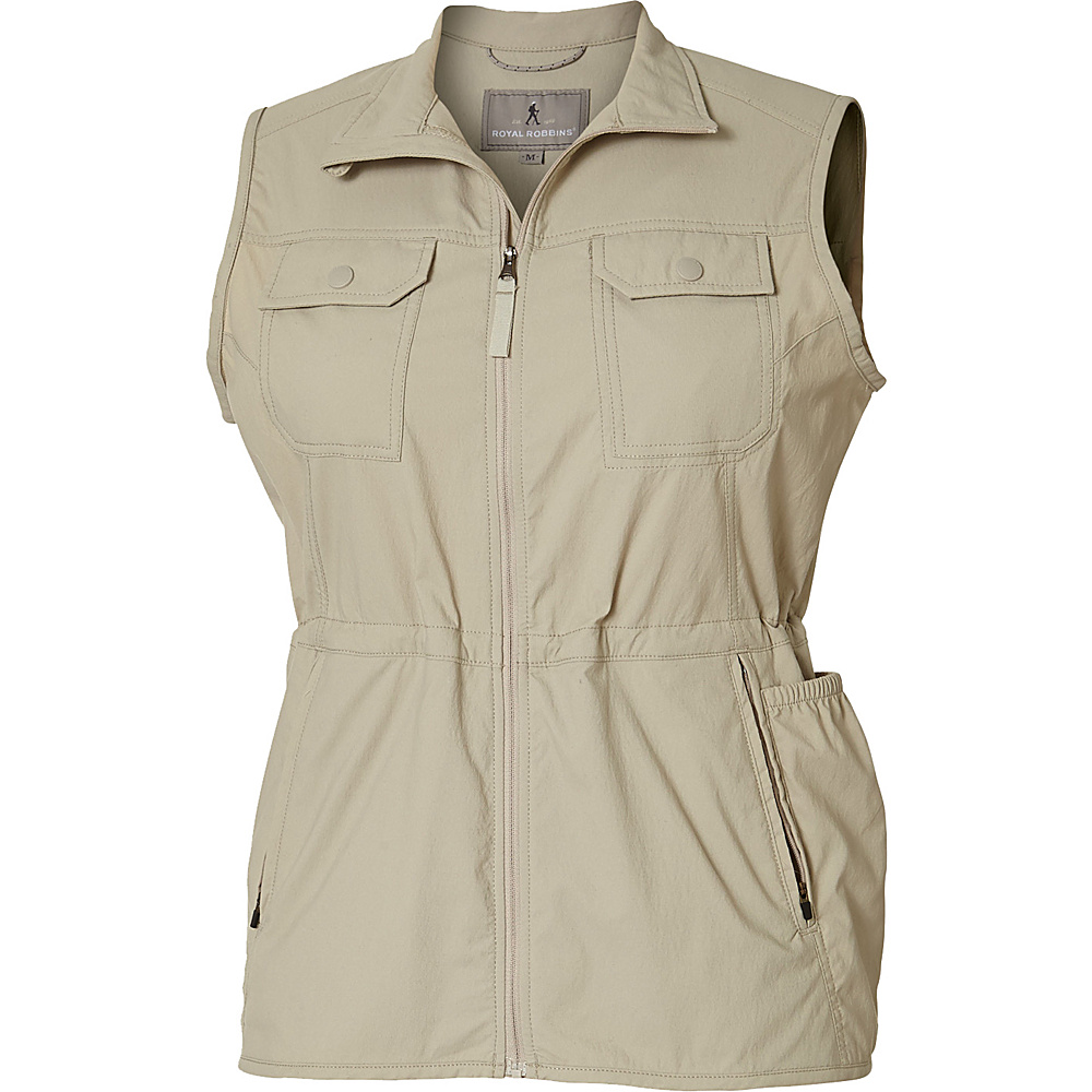 Royal Robbins Womens Jammer Vest XS - Light Khaki - Royal Robbins Womens Apparel - Apparel & Footwear, Women's Apparel