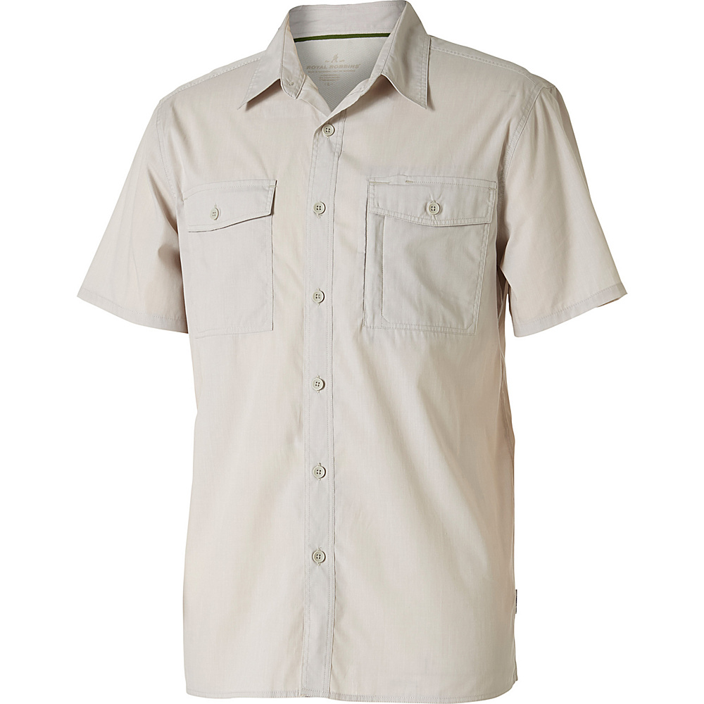 Royal Robbins Mens Vista Chill Short Sleeve Shirt S - Soapstone - Royal Robbins Mens Apparel - Apparel & Footwear, Men's Apparel