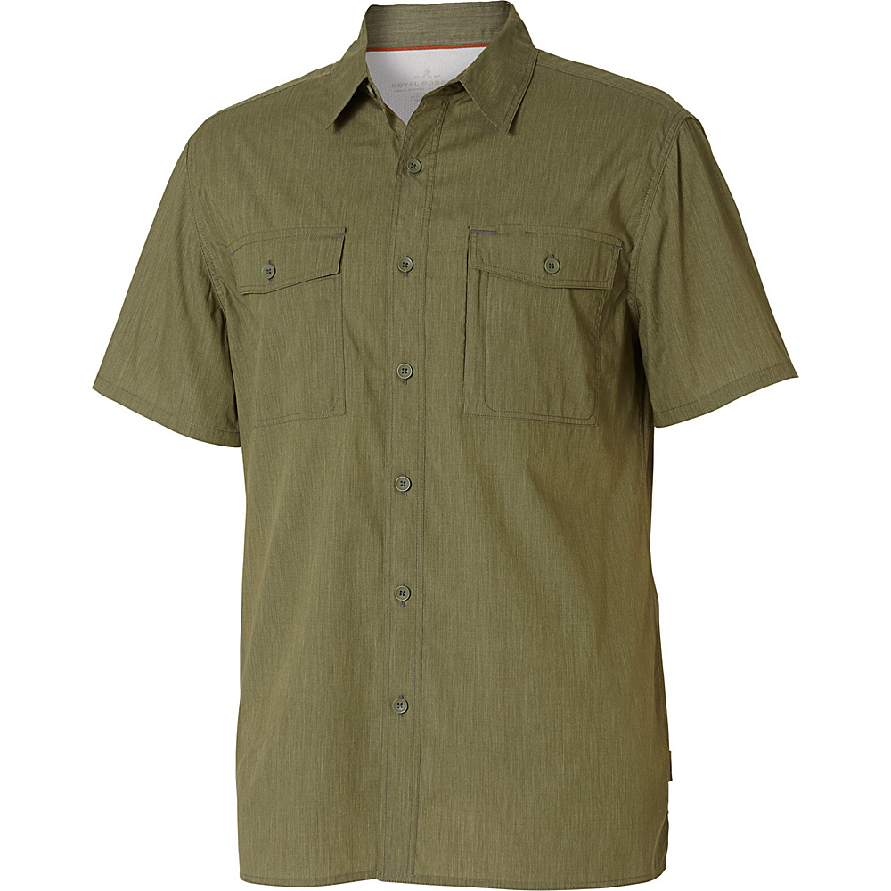 Royal Robbins Mens Vista Chill Short Sleeve Shirt S - Olivine - Royal Robbins Mens Apparel - Apparel & Footwear, Men's Apparel