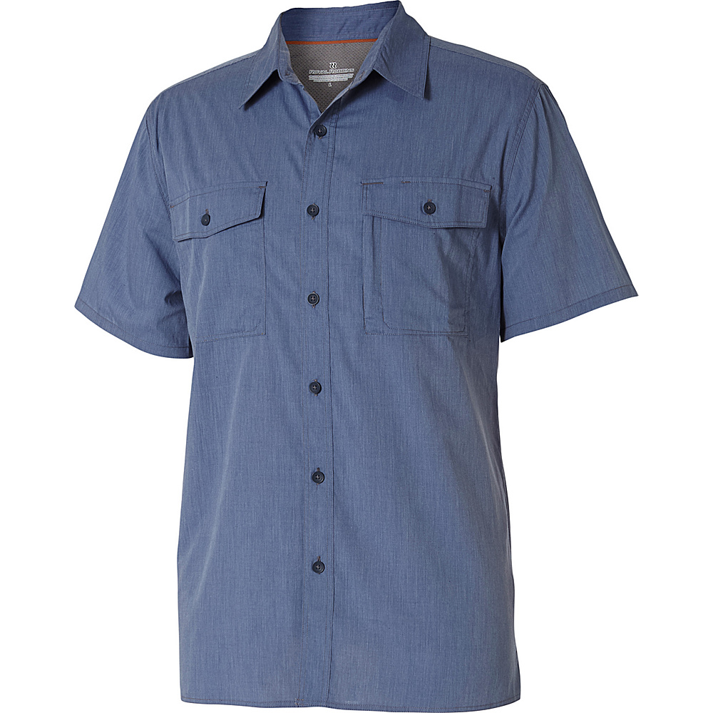 Royal Robbins Mens Vista Chill Short Sleeve Shirt L - Storm Blue - Royal Robbins Mens Apparel - Apparel & Footwear, Men's Apparel
