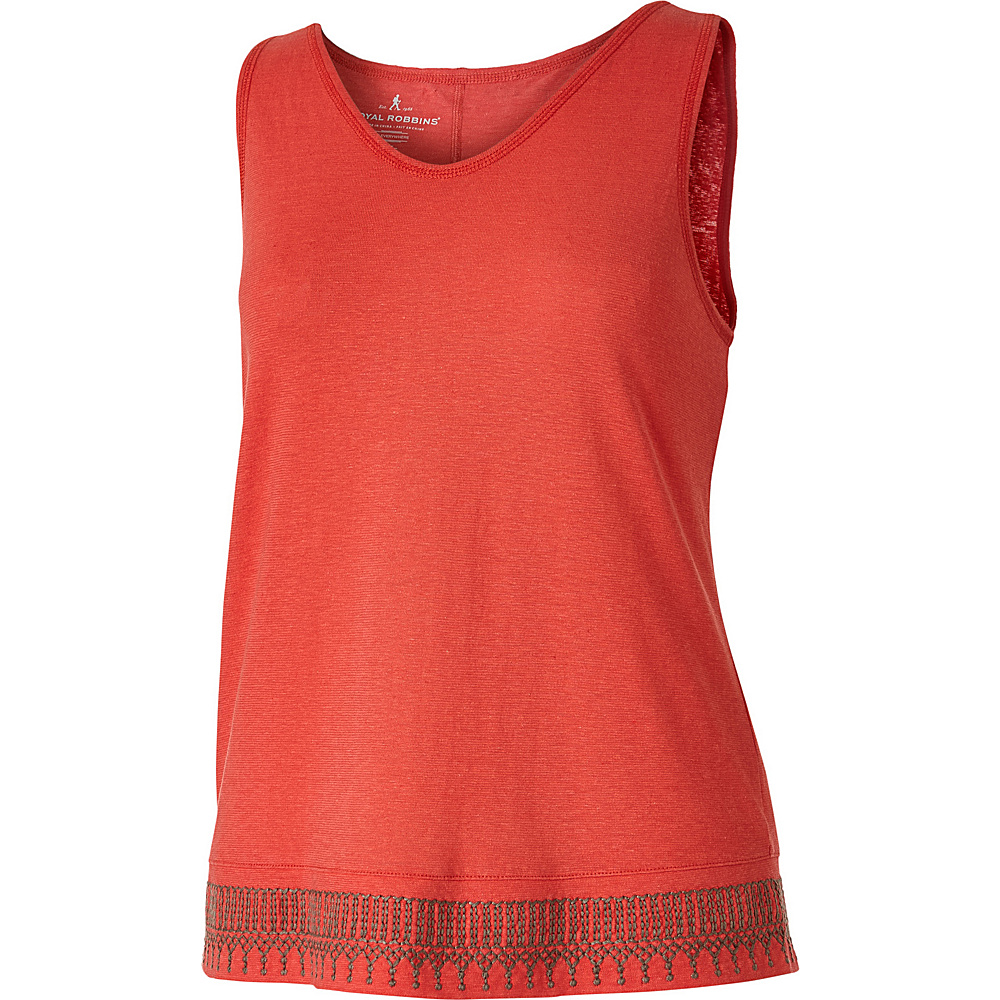 Royal Robbins Womens Flynn Tank XS - Dark Coral - Royal Robbins Womens Apparel - Apparel & Footwear, Women's Apparel