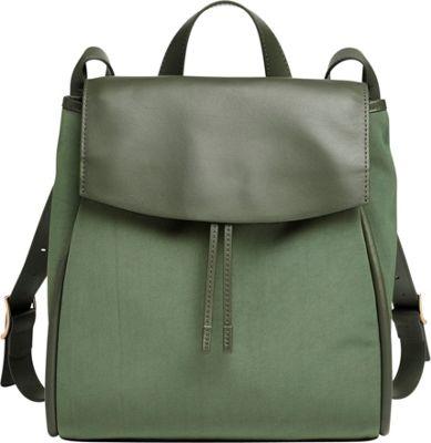 Skagen Ebba Nylon and Leather Backpack Agave - Skagen Leather Handbags