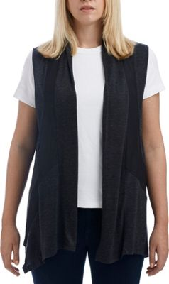 Lava Accessories Color Paneled Jersey Chiffon Vest One Size  - Charcoal - Lava Accessories Women's Apparel