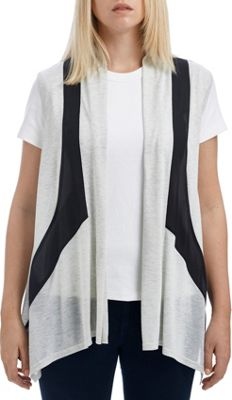 Lava Accessories Color Paneled Jersey Chiffon Vest One Size  - Grey - Lava Accessories Women's Apparel