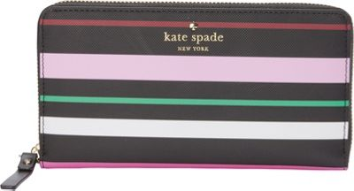 kate spade new york Harding Street Fiesta Stripe Michele Wallet Black Multi - kate spade new york Women's SLG Other