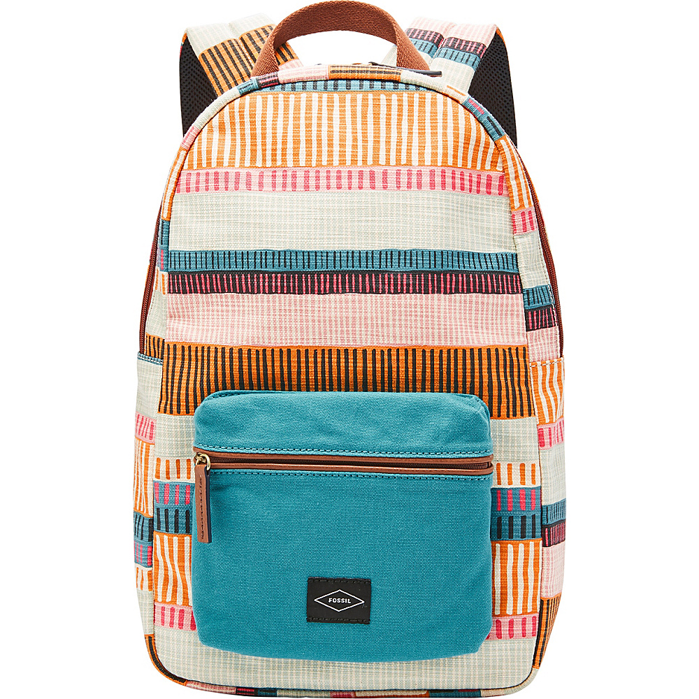Fossil Phoebe Backpack Colorful Stripes - Fossil Fabric Handbags - Handbags, Fabric Handbags