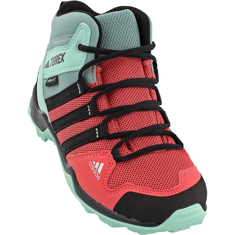 adidas outdoor Kids Terrex AX2R Mid CP Shoe 3 (US Kids) - Tactile Pink/Black/Easy Green - adidas outdoor Mens Footwear - Apparel & Footwear, Men's Footwear