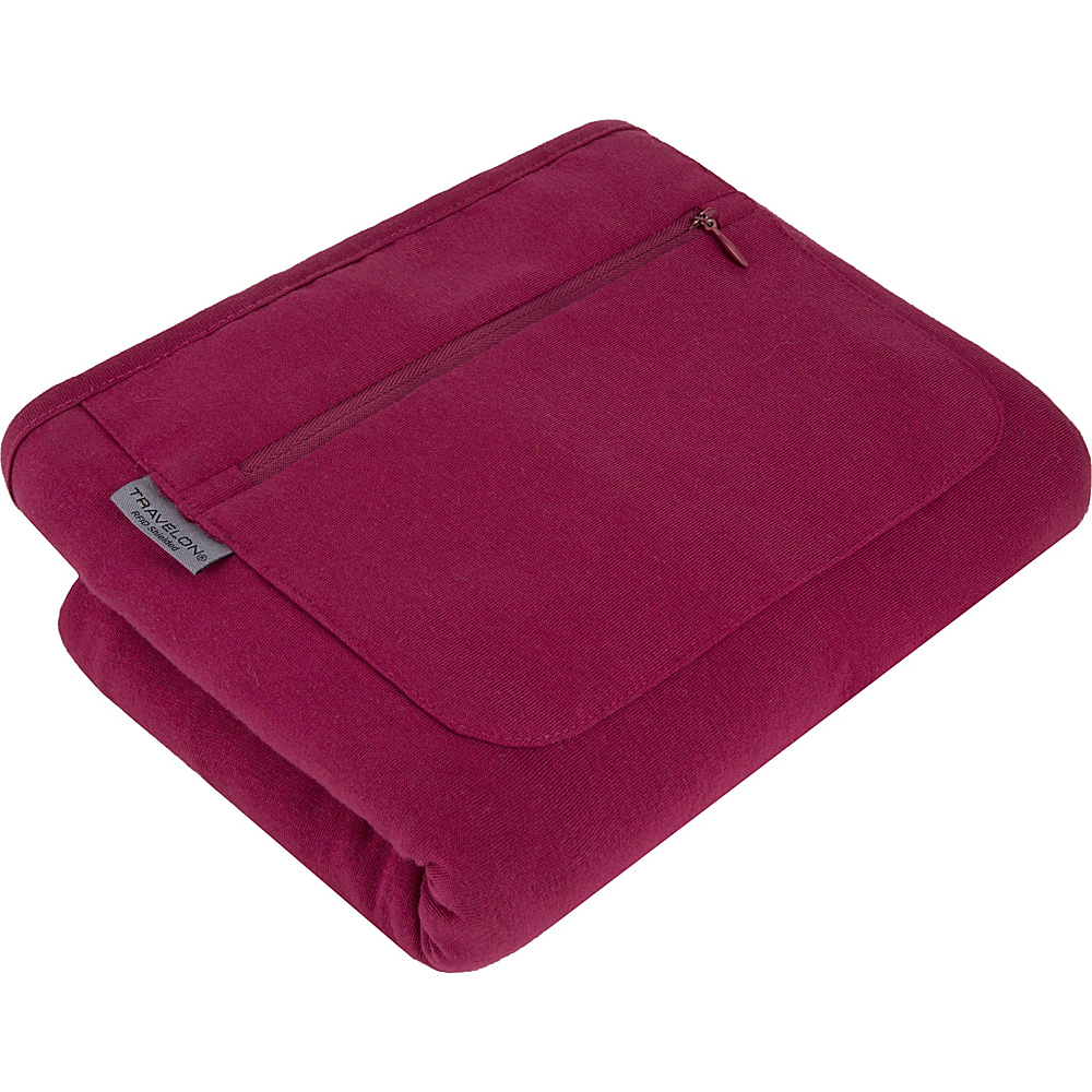 Travelon Travel Scarf with RFID Protected Pocket Raspberry - Travelon Scarves - Fashion Accessories, Scarves